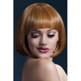 "Fever Mia Wig Auburn , Short with Fringe (10"", 25cm)"
