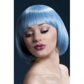 "Fever Mia Wig Pastel Blue , Short with Fringe (10"", 25cm)"