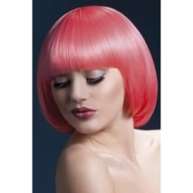 "Fever Mia Wig Pastel Coral, Short with Fringe (10"", 25cm)"