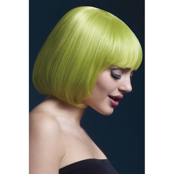 "Smiffy's Fever Mia Wig Pastel Green , Short with Fringe (10"", 25cm)"