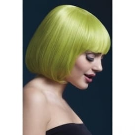"Fever Mia Wig Pastel Green , Short with Fringe (10"", 25cm)"