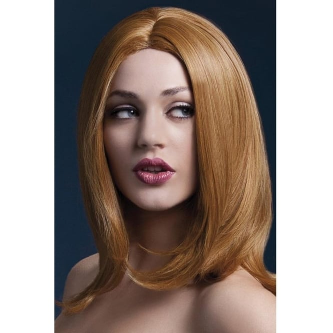 "Smiffy's Fever Sophia Wig Auburn, Layered with Centre Parting (17"", 43cm)"