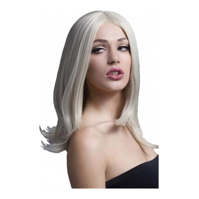 "Smiffy's Fever Sophia Wig Blonde, Layered with Centre Parting (17"", 43cm)"
