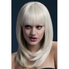 "Fever Tanja Wig Blonde, Feathered with Fringe (19"", 48cm)"