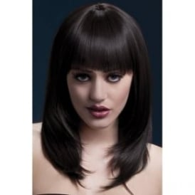 "Fever Tanja Wig Brown, Feathered with Fringe (19"", 48cm)"