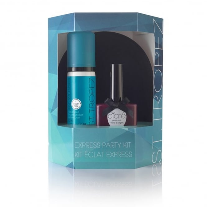 St Tropez Express Party Kit,Nail Polish 50ml Self Tan & Mitt